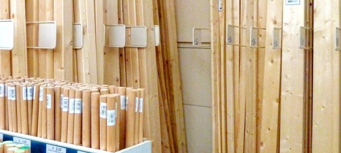 Holz und Holzzuschnitt bei Werkmarkt Probst